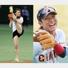 5月には巨人戦で始球式/(C)日刊ゲンダイ