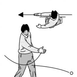 ボールを目標線に真っすぐ放る