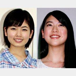 小芝風花(左)と三吉彩花(右)/(C)日刊ゲンダイ