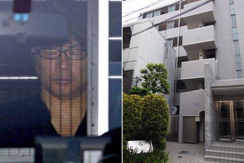 送検されるASKA容疑者と栩内容疑者の住むマンション/(C)日刊ゲンダイ