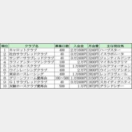 獲得賞金が多い10法人/(C)日刊ゲンダイ