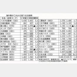 海外勢がこれから狙う主な銘柄/(C)日刊ゲンダイ