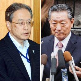 伊原純一アジア大洋州局長(左)と宋日昊朝日国交正常化交渉担当大使/(C)AP