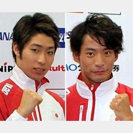 萩野(左)と入江/(C)日刊ゲンダイ