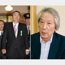 左から籾井NHK会長、鈴木嘉一BPO新委員/(C)日刊ゲンダイ