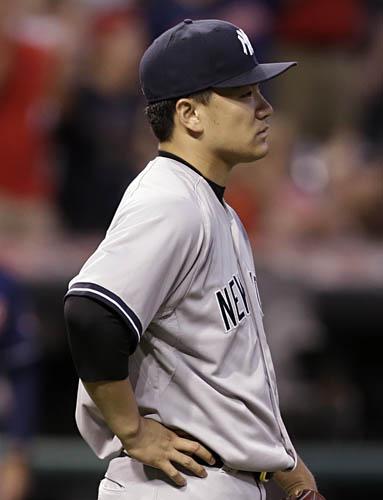 インディアンス戦で2本塁打を浴びた田中/(C)AP