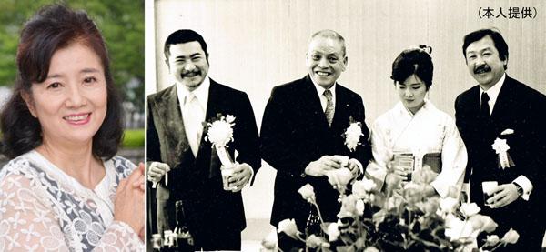 右写真は、71年の文部大臣新人賞授賞式後パーティー(左が勝新太郎、中央右が本人)/(C)日刊ゲンダイ