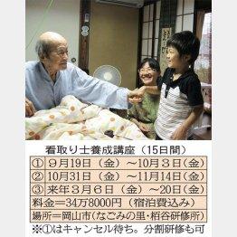 担当した家族と(中央が柴田さん)/(C)日刊ゲンダイ