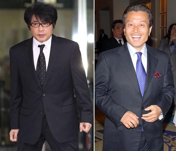 南部代表(右)はASKAとの関係否定/(C)日刊ゲンダイ