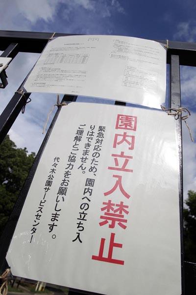 """""""震源地""""の代々木公園は立入禁止に/(C)日刊ゲンダイ"""