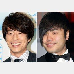 田村淳(左)と井上裕介/(C)日刊ゲンダイ