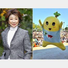 金井克子とふなっしーが共演?/(C)日刊ゲンダイ