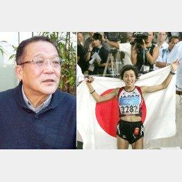 藤田氏(左)とアテネ五輪金の野口みずき/(C)JMPA