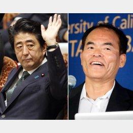 安倍首相と中村修二教授/(C)AP