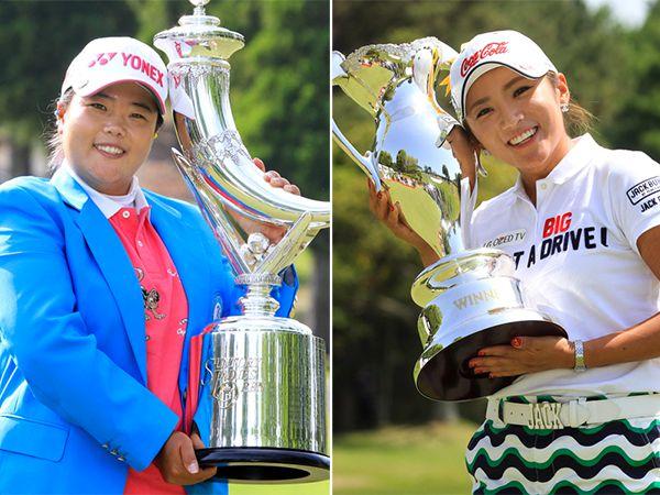 賞金ランク1位のアン・ソンジュ(左)と2位のイ・ボミ/(C)日刊ゲンダイ