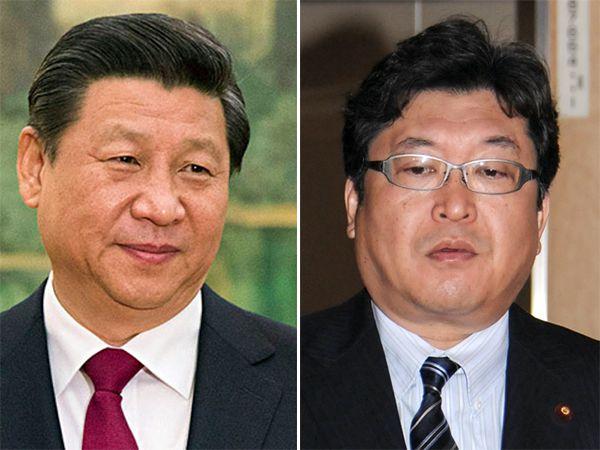 習近平(左)と萩生田総裁特別補佐/(C)AP