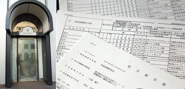収支報告書に頻繁に登場するコンセプション(左)/(C)日刊ゲンダイ