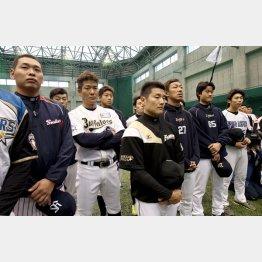 12球団合同トライアウトに参加した選手たち/(C)日刊ゲンダイ