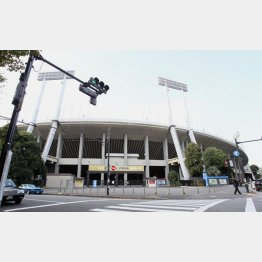 国立競技場の解体工事は再々入札中/(C)日刊ゲンダイ