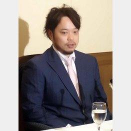 11日に都内でFA権行使を表明した小谷野/(C)日刊ゲンダイ