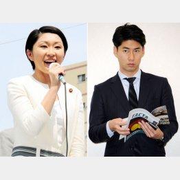 小渕前経産相と中曽根康隆氏/(C)日刊ゲンダイ