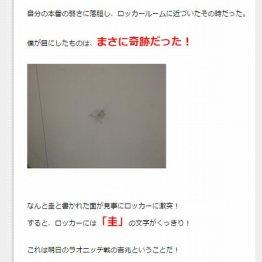 確かに「圭」の文字がくっきり/松岡修造氏のコラムより