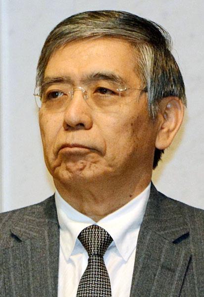 黒田総裁と安倍首相の猿芝居/(C)日刊ゲンダイ