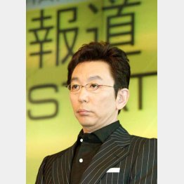 写真は10年前の「報ステ」スタート会見/(C)日刊ゲンダイ