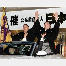 旭天鵬(左)はすでに帰化したが…/(C)日刊ゲンダイ