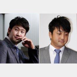 表情も対照的な菅野と沢村/(C)日刊ゲンダイ