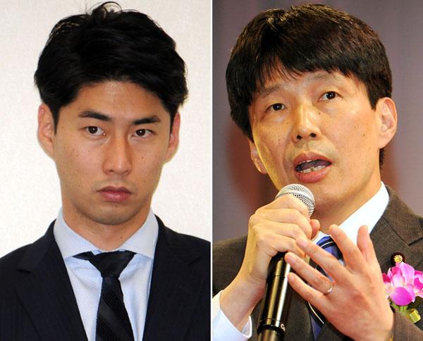 中曽根康隆氏と山本参院議員/(C)日刊ゲンダイ