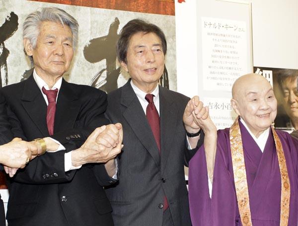 東京都知事選では細川護煕氏を応援した(左)/(C)日刊ゲンダイ