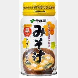 「かつおと昆布の旨み みそ汁」(伊藤園/JR東日本ウォータービジネス、130円)