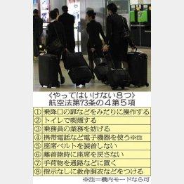 乗務員へのセクハラもご法度/(C)日刊ゲンダイ