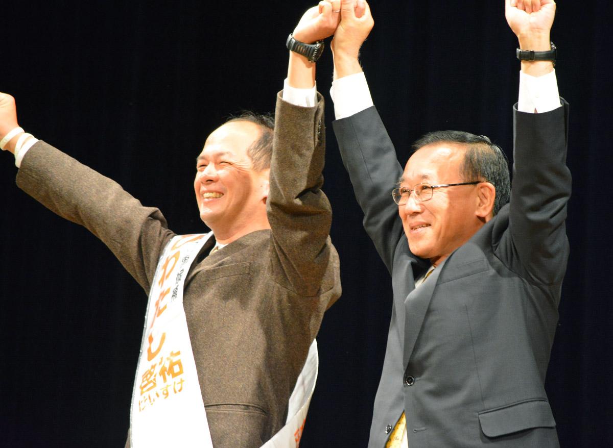 谷垣自民党幹事長も佐賀入り/(C)日刊ゲンダイ