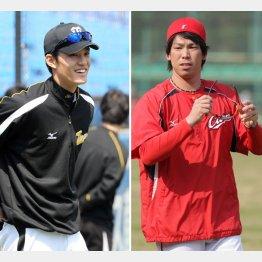 藤浪(左)はマエケン(右)から何を吸収できるか?/(C)日刊ゲンダイ