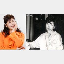 夏目雅子に似ていると言われたデビュー当時(右)/(C)日刊ゲンダイ