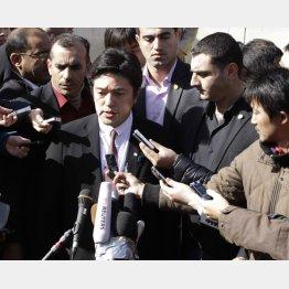 対応に追われる中山外務副大臣/(C)AP
