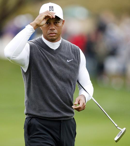 いまや自分のゴルフより恋人の応援が大事?/(C)AP