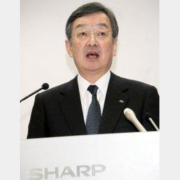 会見したシャープの高橋社長/(C)日刊ゲンダイ