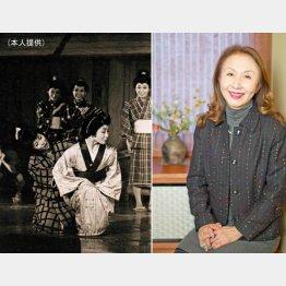 舞台「小さな花がひらいた」の1シーン(左)/(C)日刊ゲンダイ