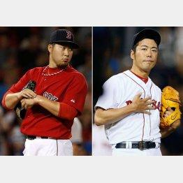 2年ぶり世界一に燃える田沢(左)と上原/(C)AP