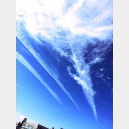 ツイッターにアップされた地震雲