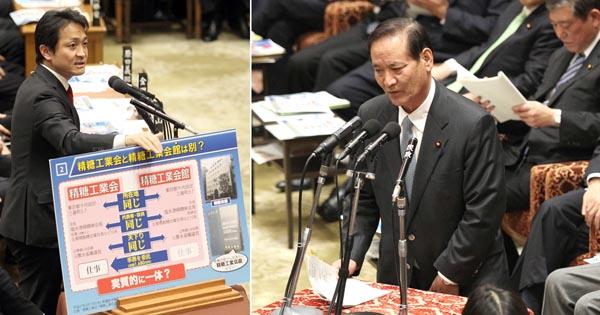 国会で厳しく追及 (C)日刊ゲンダイ