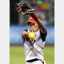 08年北京五輪の上野投手 (C)JMPA