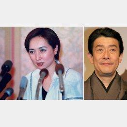離婚会見時の近藤サト/(C)日刊ゲンダイ