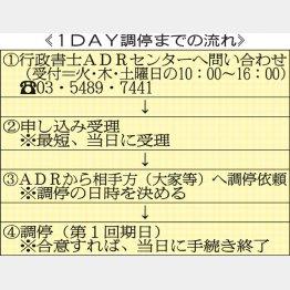 早ければ申し込み翌日にも調停スタート(C)日刊ゲンダイ