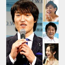 千原ジュニアのローカル番組には豪華な面々(右上から高橋真麻、坂上忍、おのののか)