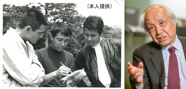 (写真左)右から梅宮辰夫、内藤監督、菅原文太(C)日刊ゲンダイ