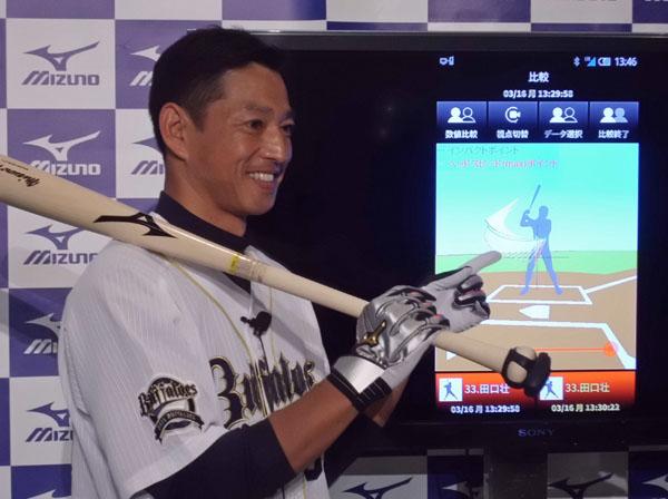 ゲストとして出席した田口壮氏も「スランプ脱出も早まる」と感激(C)日刊ゲンダイ